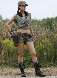 "Rosita Espinosa (Christian Serratos) in The Walking Dead - Season 4, Episode 11: ""Claimed"". (Photo by Gene Page/AMC)"