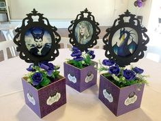 MALEFICENT MOVIE Birthday Party Ideas   Photo 1 of 24   Catch My Party Party Centerpieces, Diy Party Decorations, Disney Halloween, Halloween Party, Maleficent Movie, Malificent, Villains Party, Disney Villains, Maleficent Birthday Party