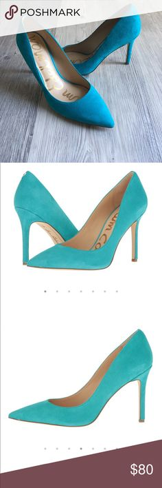 Brand new! Sam Edelman Hazel turquoise heels Sam Edelaman Hazel turquoise Gulf Blue Kid suede leather heels. Never been worn. Sam Edelman Shoes