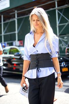 Corset Tops for a Cool Layered Look: This season is all about the corset. Once deemed only for the bedroom, this piece is perfect for lacing up over your favorite shirt, dress, or tee.