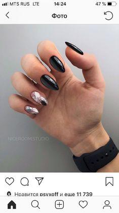 Classy Nails, Stylish Nails, Best Acrylic Nails, Acrylic Nail Designs, Punk Nails, Grunge Nails, Gell Nails, Almond Nails Designs, Nail Tattoo
