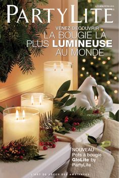 World's Brightest Candle™ GloLites! Independent Partylite Consultant Tanya Crago www. Christmas Candles, Christmas Decorations, Christmas Ornaments, Holiday Decor, Partylite, Pots, Candle Accessories, Best Candles, Burning Candle