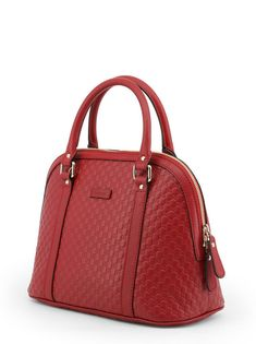 GUCCI Women s Authentic NEW Red Leather GG Dome Shoulder Bag  76bc72a1b5b45