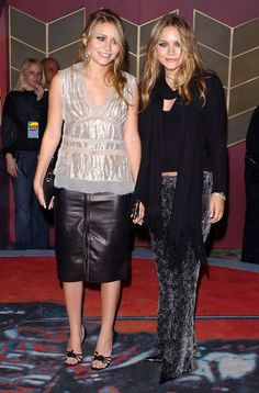 Ashley et Mary Kate Olsen aux MTV Video Music Awards en 2002.