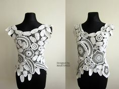 White Irish Crochet Top, Freeform Crochet, Lace Women Sweater, Bohemian Crochet, Beach Lace Top