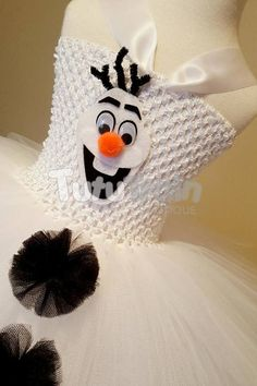 Olaf Tutu Dress Disney Tutu Frozen Costume Birthday Party Tutu Dresses, Disney Dresses, Disney Tutu, Costume Birthday Parties, Frozen Costume, Dress Up, Crochet Hats, Costumes, Tutus
