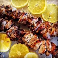 Lemon, Garlic and Thyme Chicken Kabobs   Lazy Girl Dinners! Great grill recipe!