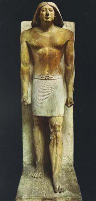 Estatua de Ranofer. Caliza pintada. Imperio Antiguo. Dinastía V. El Cairo (Museo Egipcio)