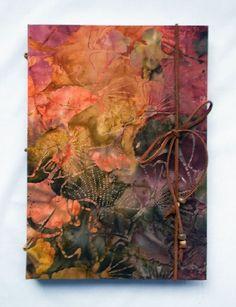 Large Hand Bound Journal Maidens Hair Gift #HAFshop #handmade #artist $35.00