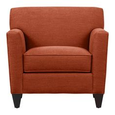 New chair from Crate & Barrel! Super comfortable and it's...ORANGE.
