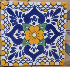 """90 azulejos mexicanos. Pintados a mano 4x4"""""""