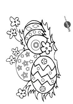 Free Online Easter Egg Colouring Page