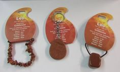 Gemstone : Set of Three: Zodiac -- Birthstone Goldstone LEO - Key Ring, Cord Necklace & Bracelet. | BirthstoneRing