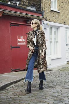 7 dias 7 looks laura bailey Laura Bailey, Winter Fashion Outfits, Autumn Winter Fashion, Fall Outfits, Leopard Print Outfits, Rocker Style, Estilo Fashion, Look Chic, Mode Outfits