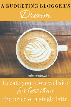 ASKMAMABEAR.COM   Budgeters, take note: The cheapest way to start your own blog or website. Pay less than the price of a single latte for professional web hosting!