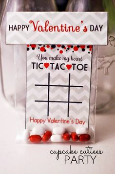 Cupcake Cutiees: Tic Tac Toe Valentine Cards with Fold Over Bag Toppers- Digital Valentine Party Store valentines day day day cards day crafts day food day ideas geschenk spruch Valentine Gifts For Kids, Valentine Day Cupcakes, Valentines Gifts For Boyfriend, Valentine Day Crafts, Happy Valentines Day, Valentine Party, Valentine Ideas, Printable Valentine, Valentine Nails