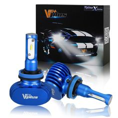 Vplus X Series LED Headlight Bulbs w/ Clear Arc-Beam Kit - H8 H11 H9 72W 8,000LM 6500K White Seoul w/ No Fan All in One Headlamp LED Conversion Replace HID & Halogen - 2 Yr Warranty - (2pcs/set) -- Awesome products selected by Anna Churchill