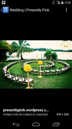 A circular isle for a more intimate wedding, what a fantastic idea! Purple Wedding, Summer Wedding, Dream Wedding, Wedding Movies, Wedding Stuff, Ceremony Seating, Wedding Entrance, Land Of Oz, Wizard Of Oz