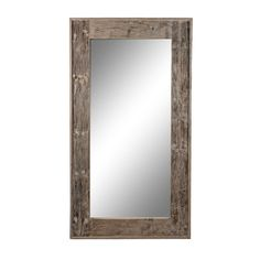 Timothy Oulton Tall wood mirror - White Washed