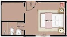planta quarto suite com closet - Pesquisa Google