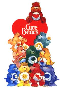 Care Bears was a cartoon syndicated by DIC productions from 1985 to 1986. The Care Bears live in a cloud city named Care-A-Lot. From there, they monitor the world for bad feelings. Whenever something bad is sensed by the Care-O-Meter, they race down to earth in their Cloudmobiles and Rainbow Rollers to help.