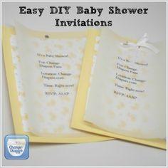 Easy DIY Baby Shower Invitations Via @chgdiapers