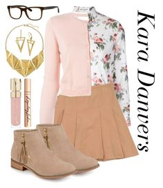 Kara Danvers- Supergirl by sadie-kane-chronicles on Polyvore featuring polyvore fashion style Yves Saint Laurent RED Valentino Moschino Journee Collection 8 Bobbi Brown Cosmetics Smith & Cult Charlotte Tilbury clothing
