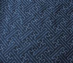 Sashiko, Sayagata - Saya brocade pattern