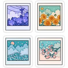 Pop Stickers, Tumblr Stickers, Kawaii Stickers, Anime Stickers, Free Printable Stickers, Preppy Stickers, Journal Stickers, Planner Stickers, Griffonnages Kawaii