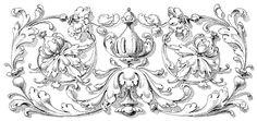 Victorian Scroll Design Clip Art