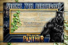 Black Panther Birthday Party Photo booth Frame Prop Receive a FREE Gift Surprise with purchase! Measures 30 X 20. OPTIONS 1. PRINT OUT: If you purchase the print out, We will print it out on high quality paper and mail it to you. You will still need to mount it onto a board of your