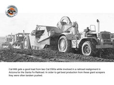 Classic Machines: The Caterpillar 666 motor scraper - Contractor Magazine White Tractor, Earth Moving Equipment, Caterpillar Equipment, Construction Machines, Old Tractors, Tandem, Heavy Equipment, Rafting, Automobile