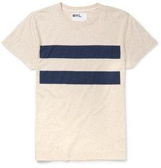 Margaret Howell - MHL Slim-Fit Striped Cotton and Linen-Blend T-Shirt