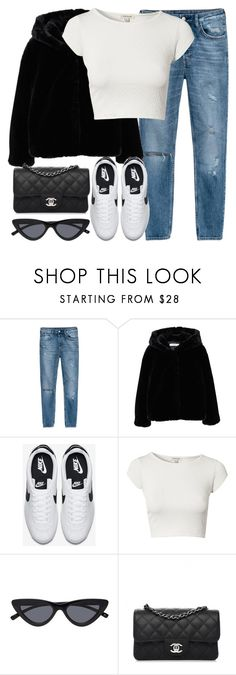 """""""Untitled #3314"""" by elenaday ❤ liked on Polyvore featuring H&M, MANGO, NIKE, River Island and Chanel"""
