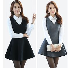 Korean fashion sweet two-piece dress