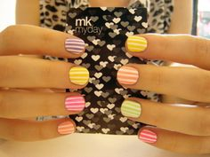 Spring on nails.