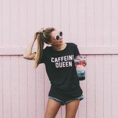 caffeine queen summer tee                                                                                                                                                                                 More