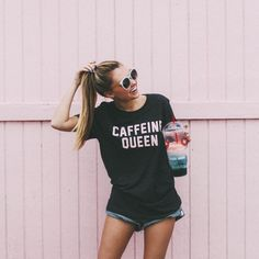caffeine queen summer tee