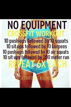 Crossfit workout with no equipment
