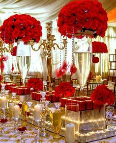 WOW😱👰 Red Party Decorations, Quinceanera Decorations, Wedding Reception Decorations, Wedding Themes, Wedding Centerpieces, Wedding Designs, Wedding Colors, Red Wedding Receptions, Wedding Ideas