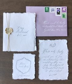 Seattle fine art wedding calligraphy services and stationery design Fall Wedding Invitations, Wedding Calligraphy, Stationery Design, Veil, Gift Wrapping, Ink, Fine Art, Bridal, Projects