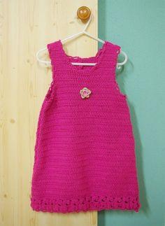 garantiert nichts! Baby Kleid Kleidchen Sommerkleid häkeln Anleitung kostenlos 2 Material: 200 g Schachenmayr SMC Micro fuchsia...