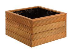Bloembak plantenbak bangkirai hardhout duurzaamheidsklasse I, uitermate geschikt voor bomen, ook voor openbare plaatsen en pleinen