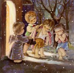 navidades victorianas ilustraciones - Buscar con Google