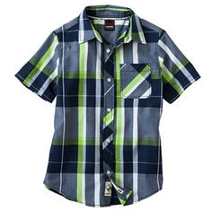 Tony Hawk Plaid Shirt - Boys 8-20 My 9 yr old hates dress shirts but I thin khe'd love this casual dressy shirt .Great for picture day #PCandKohlsBTS
