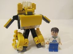 LEGO Transformers: Bumblebee (with instructions): A LEGO® creation by… Transformers Birthday Parties, Transformer Birthday, Lego Stuff, Kid Stuff, Lego 3d, Lego Transformers, Lego Activities, Lego Mecha, Lego For Kids