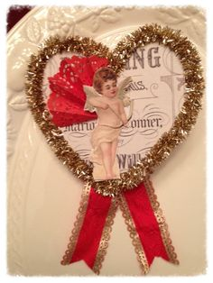 Beautiful Hanging Heart Valentine Decoration Vintage Style for Valentine Party
