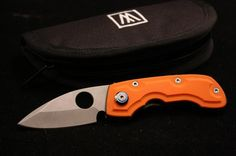 Wilkins Leafstorm.  I love the materials, and the blue anodizing\This is the opposite side of the leaf stormi showing the orange g10, which is also a big favorite of mine. The blade is also less than 3 inches, which I also like for some of my knives.  This had to come home to me.
