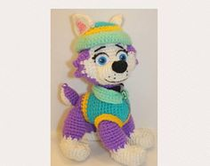 Paw Patrol Everest crochet pattern (English), PDF format.