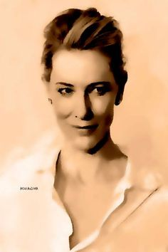 Original Women Painting by Acqua Luna Cate Blanchett, Gouache, Saatchi Art, Original Paintings, Art Gallery, Statue, The Originals, Artwork, Portraits